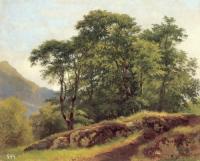 Буковый лес в Швейцарии. 1863. Xолст, масло. 51x61,5. Государственный Русский музей