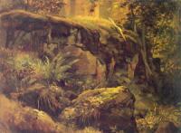 Камни в лесу. Валаам. Этюд. 1858-60
