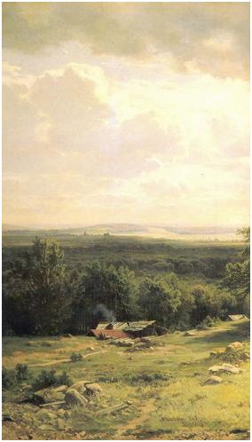 Вид в окрестностях Дюссельдорфа. Левый фрагмент.
